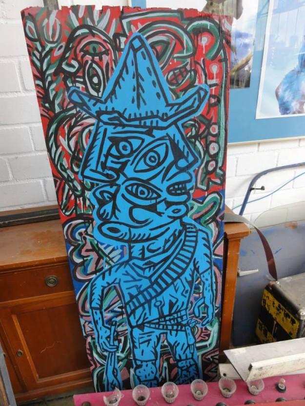 Kapilo peinture sur bois